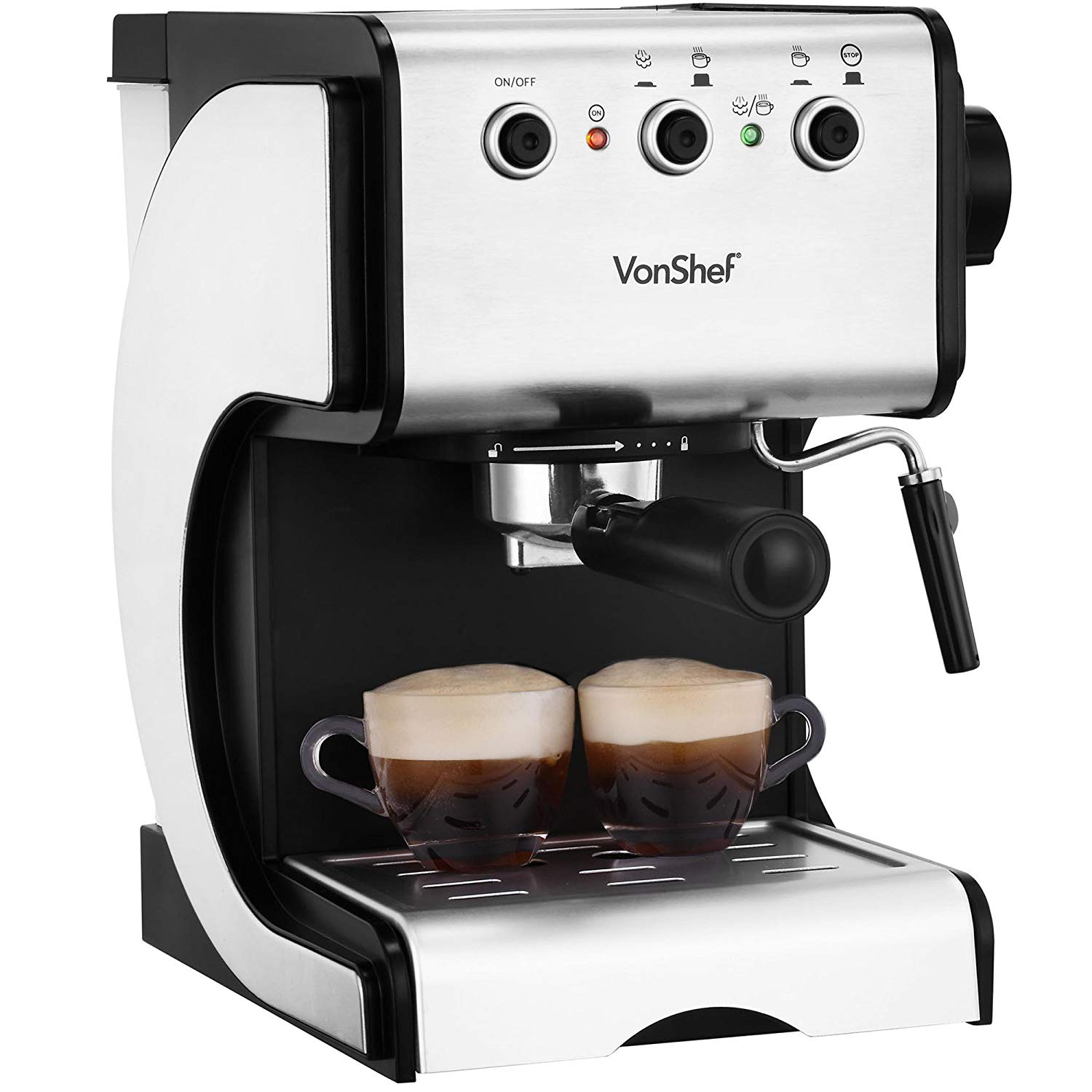 VonShef 15 Bar Coffee Maker