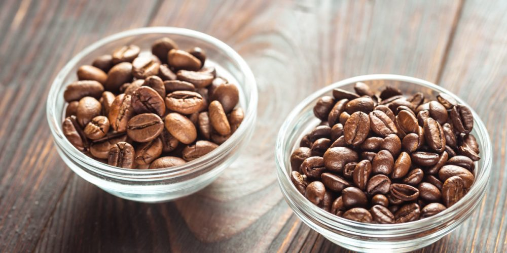 The difference between Arabica and Robusta coffee beans