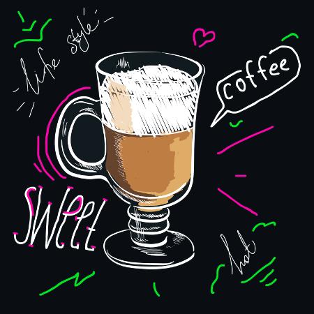 Chalk Mocha Coffee Cup